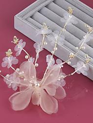 cheap -Sweet Bride Headdress Flower Spun Silk Yarn Hairpin Wedding Jewelry Wedding Dress Accessories Mori Girl Handmade Flower Head