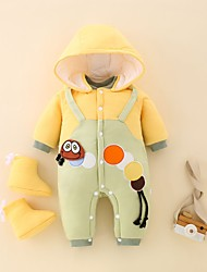 cheap -Baby Boys' Jumpsuits Jumpsuits & Pramsuit Active Cute Home Casual Bed Cotton Yellow Decor Animal Print Long Sleeve / Fall / Winter