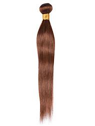 cheap -Ishow 1 Bundle Human Hair Weaves Real Virgin Peruvian Hair Shade 100% Human Hair Pure Color 4# Hair Bundle Single Set 10-24 Inch