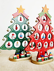 cheap -Christmas Decorations Wooden Christmas Tree Ornaments DIY Hand Assembled Decorative Tree Tabletop Ornaments