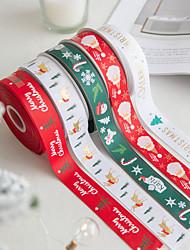 cheap -Christmas Party Snowflake Elk Ribbon Gift Belt Gift Box Packaging Belt Ribbon Mesh Ribbon Christmas Decorations