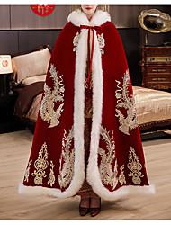 cheap -Sleeveless Elegant / Bridal Velvet Wedding / Party / Evening Shawl & Wrap / Shawls / Women's Wrap With Appliques / Lace-up / Paillette