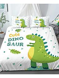 cheap -Print Home Bedding Duvet Cover Sets Soft Microfiber For Kids Teens Adults Bedroom Dinosaur Animals Cartoon 1 Duvet Cover + 1/2 Pillowcase Shams