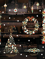 cheap -New Year Festival Christmas Window Glass Window Decoration Wall Stickers 105*70cm