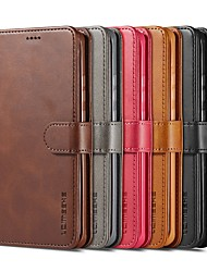 cheap -Phone Case For Huawei Tablets Full Body Case Leather P40 P40 Pro P40 Pro+ P30 P30 Pro P30 Lite Mate 20 X Wallet Card Holder Shockproof Solid Colored PU Leather