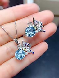 cheap -Women's Drop Earrings Necklace Earrings Classic Artistic Fashion Punk Korean Sweet Silver Plated Earrings Jewelry Blue For Street Gift Daily Work Festival 1pc / Ring