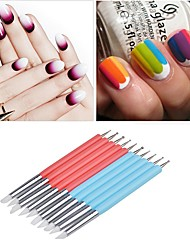 cheap -5 Pieces 2 Way Ball Styluses Dotting Tool Silicone Color Shaper Brushes Pen for Polymer Clay Pottery Modeling Sculpture Nail Art