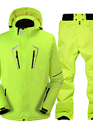 cheap -Men's Ski Jacket with Bib Pants Thermal Warm Waterproof Windproof Breathable Hooded Winter Clothing Suit for Snowboarding Ski Mountain / Cotton