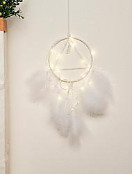 cheap -Boho Dream Catcher Handmade Gift Wall Hanging Decor Art Ornament Crafts Circle Feather For Kids Bedroom Wedding Festival 15*40cm