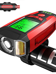 cheap -LED Bike Light Front Bike Light Rear Bike Tail Light Speedometer LED Bicycle Cycling Waterproof Portable LED Rechargeable Li-Ion Battery 800 lm Rechargeable Battery Natural White Camping / Hiking