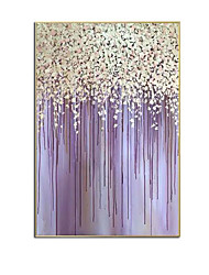 cheap -Oil Painting Handmade Hand Painted Wall Art Vertical Modern Purple Abstract Home Decoration Decor Rolled Canvas No Frame Unstretched