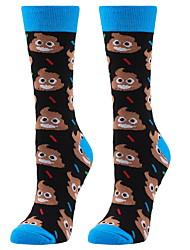 cheap -Fashion Comfort Women's All Socks Cartoon Socks Casual Socks Medium Halloween Blue 1 Pair