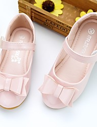 cheap -Girls' Flats Flower Girl Shoes Patent Leather Breathability Wedding Cute Dress Shoes Little Kids(4-7ys) Wedding Party Party & Evening Bowknot Pink White Fall Spring
