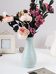 cheap -Vase Modern Minimalist Plastic Vase Creative Living Room Decoration Ornaments Home Imitation Glaze Vase