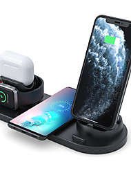 cheap -10 W Output Power USB 3 in 1 Wireless Chargers Wireless Charger Portable Short Circuit Protection over current protection CE Certified For Cellphone 1 pc