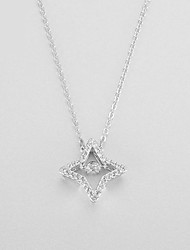 cheap -Pendant Necklace Women's Geometrical Clear Star Dainty Luminous Wedding Silver 50 cm Necklace Jewelry 1pc for Wedding Geometric
