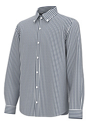 cheap -Men's Shirt Striped Long Sleeve Business Tops Formal Casual Slim Fit Classic Collar Blue White Black / Machine wash / Daily / Work / Hand wash / Work