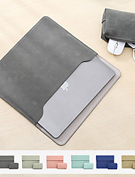 cheap -11/12/13.3/13/15/15.6 Inch PU Leather Laptop Sleeve for MacBook Pro Waterpoof Shock Proof Laptop Carry Sleeve for MacBook Air with Storage Bag