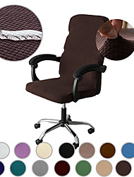 cheap -Water Resistant Computer Office Chair Cover Gaming Chair Stretch Chair Slipcover Plain Solid Color Durable Washable Furniture Protector