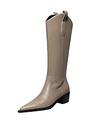 cheap -009-7 european and american thick-heeled high-heeled wood grain with pointed toe retro style knight boots winter new sleeve female high boots
