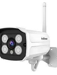 cheap -SriHome SH024 IP Security Cameras 3MP Cube WIFI Wireless Waterproof Motion Detection IR-cut Indoor Outdoor Support 128 GB / Wi-Fi Protected Setup