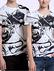 cheap -Inspired by One Piece Portgas D. Ace T-shirt Anime 100% Polyester Anime 3D Harajuku Graphic T-shirt For Men's / Women's / Couple's