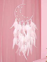 cheap -Boho Dream Catcher Handmade Gift Wall Hanging Decor Art Ornament Craft Moon Bead Feather For Kids Bedroom Wedding Festival