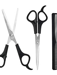 cheap -Household Hairdressing Scissors Thinning Shears Hair Cutting Barber Scissors Flat Tooth Scissor Comb 3pcs Set Hair Styling Tools