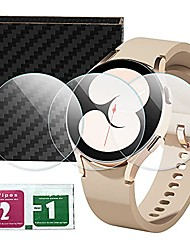 cheap -compatible for samsung galaxy watch 4 glass,2.5d 9h hardness tempered glass screen protector(3-pack) (44mm)