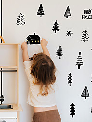 cheap -Christmas Children's Room Decoration Stickers Waterproof Cartoon Simple Forest Self-adhesive DIY Wall Stickers