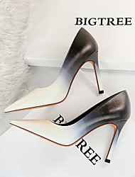 cheap -1938-2 korean fashion sweet high-heeled shoes stiletto high-heeled shallow mouth pointed toe color matching color gradient single shoes women's shoes
