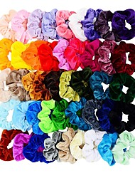cheap -45 Pcs Hair Scrunchies Velvet Elastics Hair Bands Scrunchy Hair Tie Ropes Scrunchie for Women Girls Hair Accessories Scrunchies - Great Gift for Holiday Seasons