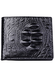 cheap -Men's Unisex Bags PU Leather Polyester Wallet Zipper Daily Outdoor Retro Black