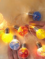 cheap -Christmas Smiley Light Bulb Lantern 5cm Round Ball LED String Light 2M 10LEDs Battery Powered Bedroom Holiday Party Garden Christmas Wedding Decoration