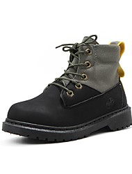 cheap -Boys' Boots Cowboy / Western Boots Bootie Combat Boots School Shoes Canvas PU Casual / Daily Fashion Boots Big Kids(7years +) Little Kids(4-7ys) Daily Yellow Black Fall Spring / Booties / Ankle Boots