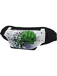 cheap -Unisex Bags Oxford Cloth Fanny Pack Zipper Character Going out Outdoor Bum Bag Green