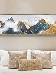 cheap -Wall Art Canvas Prints Painting Artwork Picture Landscape Mount Gold Abstract Home Decoration Decor Rolled Canvas No Frame Unframed Unstretched