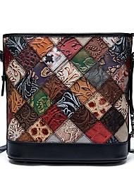 cheap -Women's Bags Nappa Leather Cowhide Crossbody Bag Zipper Shopping Daily Sequins Retro Handbags Rainbow
