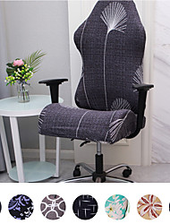 cheap -Split Gaming Chair Covers Printed Stretch Computer Game Chair Slipcover for Leather Office Game Reclining Racing Ruffled Gamer Chair Protector