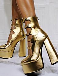 cheap -aliexpress foreign trade cross-border golden halloween mary jane water platform thick heels large size 47 high heels