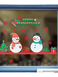 cheap -Holiday Christmas Wall Stickers Bedroom Kids Room Kindergarten Removable Pre-pasted PVC Home Decoration Wall Decal 1pc