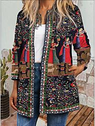 cheap -amazon wish autumn and winter new retro ethnic print long-sleeved jacket jacket cardigan women's new products
