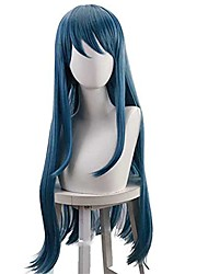 cheap -maizono sayaka cosplay wig danganronpa oblique bangs long straight wig hairpiece hairnet for role play halloween