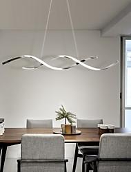 cheap -LED Pendant Light 90 110 cm Island Design Pendant Light Aluminium Alloy Modern Style Geometrical Chrome LED Modern 220-240V