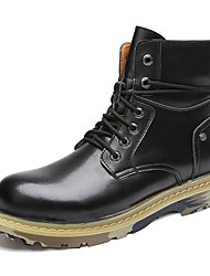cheap -Men's Boots Daily Pigskin Non-slipping Booties / Ankle Boots Wine Black Brown Fall Winter