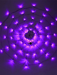 cheap -LED Net String Light 70LED Halloween Spider Web Net Lights USB Or AA Battery Power 8Modes Spider Web Wall Net Lights For Scary Halloween Decoration Garland Lighting With Remote Controller