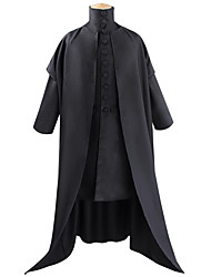 cheap -Harry Potter Lord Voldemort Coat Cosplay Costume Outfits Men's Movie Cosplay Cosplay Black Coat Top Halloween Carnival Masquerade Polyester