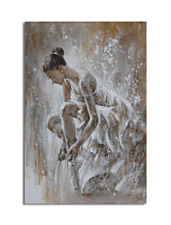 cheap -Oil Painting Handmade Hand Painted Wall Art Abstract People Canvas Painting Home Decoration Decor Stretched Frame Ready to Hang