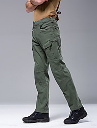 cheap -Men's Cargo Pants Hunting Pants Windproof Breathable Sweat-Wicking Winter Spring Autumn Solid Color Cotton Bottoms for Camping / Hiking Hunting Combat khaki Green Black S M L XL XXL