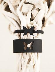 cheap -Ring Hollow Out Black Alloy Butterfly Stylish Unique Design Punk 2pcs / Women's / Men's / Open Ring